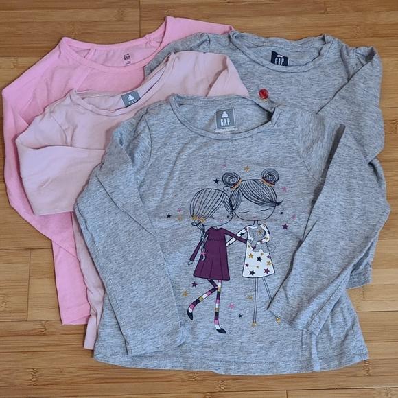 GAP girls long sleeve t shirts (4)